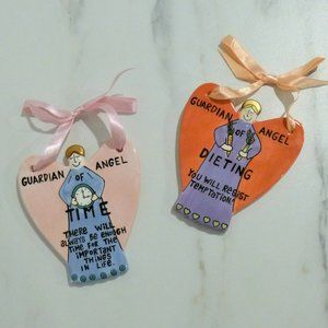 Ornament Set Guardian Angels of Time and Dieting